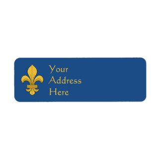 Fleur-de-Lis Return Address Label