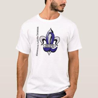 Fleur De Lis Rheumatoid Arthritis Hope T-Shirt