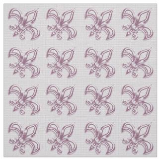 Fleur de Lis royal pink metallic  pattern Fabric