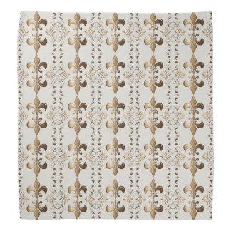 Fleur de Lis, royal seamles pattern. Bandana
