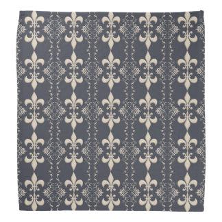 Fleur de Lis, royal seamles pattern Head Kerchief
