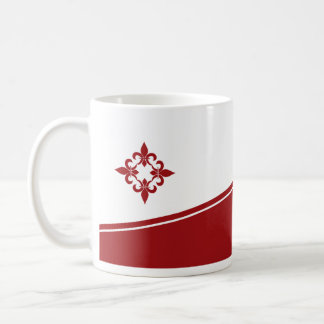 Fleur de Lis Ruby Mug