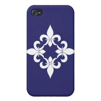 Fleur de Lis Sapphire  Case For iPhone 4