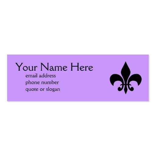 Fleur de Lis Skinny Profile Card Business Card