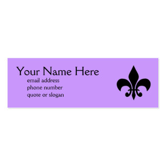 Fleur de Lis Skinny Profile Card Pack Of Skinny Business Cards