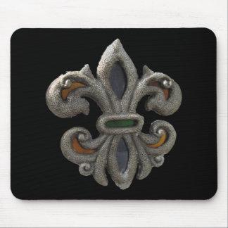 Fleur de lis Stained Glass Mouse Pad