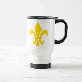 Fleur de Lis Stainless Steel Travel Mug