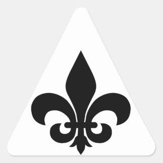 Fleur-de-lis Triangle Sticker