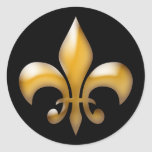 Fleur de Lis Stickers in Black and Gold