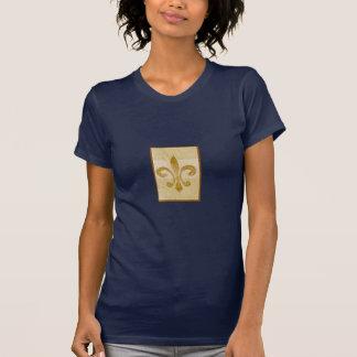 fleur de lis stripe stamp design T-Shirt