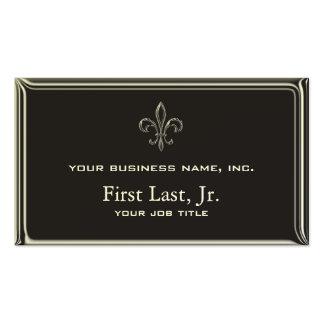 Fleur De Lis - Stripey 3D Style Business Card Template