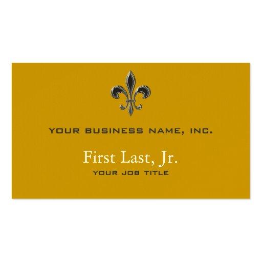 Fleur De Lis - Stripey Business Card Templates