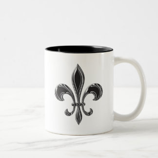 Fleur De Lis - Stripey Two-Tone Mug