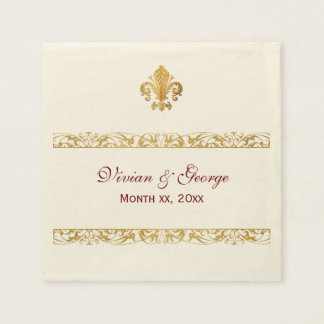 Fleur-de-lis Themed Design Disposable Napkins