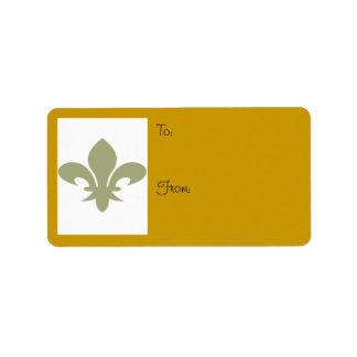Fleur de Lis To/From Label Address Label