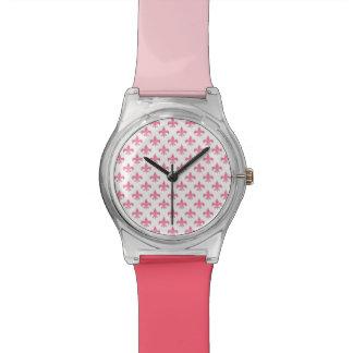 Fleur-de-lis Two-Color Band Watch