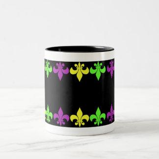 Fleur de Lis Two-Tone Mug