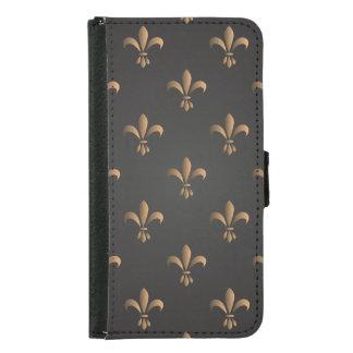 Fleur de lis, vintage,elegant,chic.classy,pattern, samsung galaxy s5 wallet case