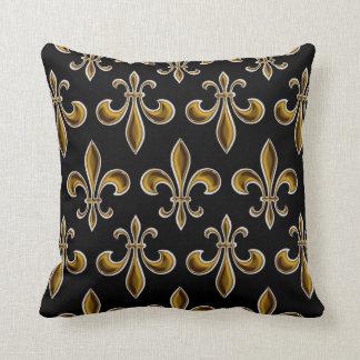 Fleur De Lis Wallpapered Cushion