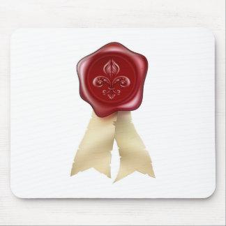 Fleur-de-lis Wax Seal graphic Mousemats