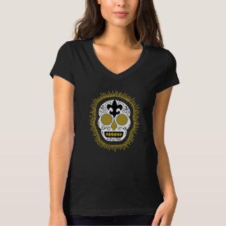Fleur De Lis Whodoo Sugar Skull T-Shirt