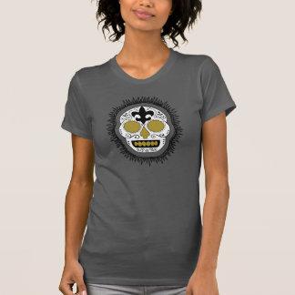 Fleur De Lis Whodoo Sugar Skull T Shirts