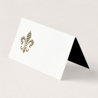 Fleur de Lis with Diamond Pattern Place Card
