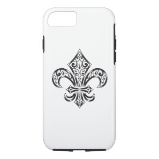 Fleur de Lis with Scrolls iPhone 7 Case