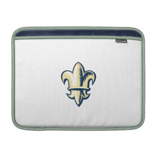 Fleur de lis Woodcut MacBook Air Sleeve