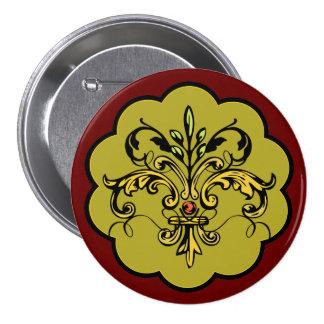 Fleur de lis Xmas Pinback Buttons