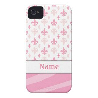 Fleur de Lis Zebra iPhone 4/4S Case