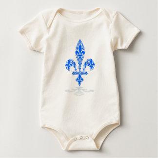 Fleur de lys baby bodysuit