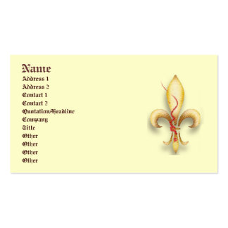 Fleur-de-Lys! Double-Sided Standard Business Cards (Pack Of 100)