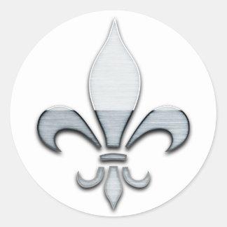 Fleur de Lys Classic Round Sticker