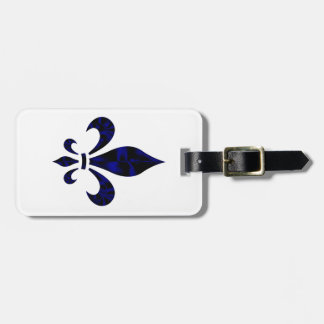 Fleur De Lys Luggage Tag (add your contact info)