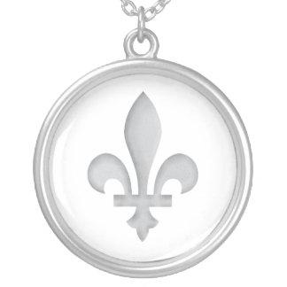 Fleur-de-lys Romantic Floral Silver Necklace