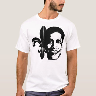 Fleur-de-Obama, black T-Shirt