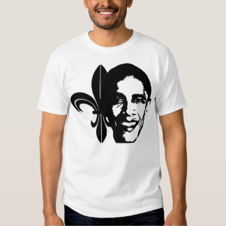 Fleur-de-Obama, black Tshirts