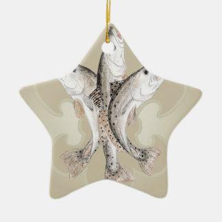 Fleur de Spec Ceramic Ornament