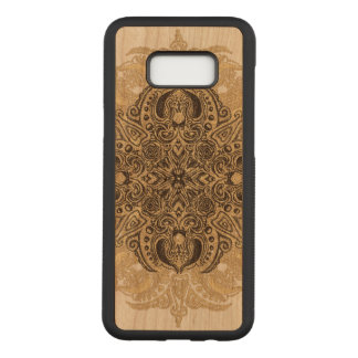 Fleur de Swirl Cherry Hardwood Carved Samsung Galaxy S8+ Case