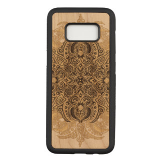 Fleur de Swirl Cherry Hardwood Carved Samsung Galaxy S8 Case