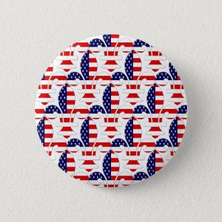Fleur de USA 6 Cm Round Badge