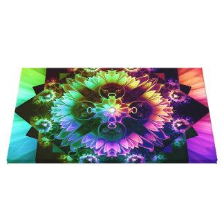 Fleur des Vents, Rainbow Fractal Flower of Winds Canvas Print