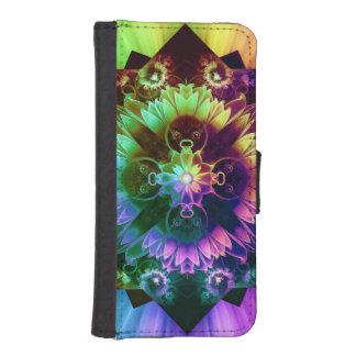Fleur des Vents, Rainbow Fractal Flower of Winds iPhone SE/5/5s Wallet Case