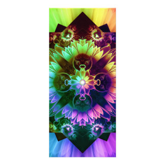 Fleur des Vents, Rainbow Fractal Flower of Winds Rack Card