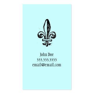 Fleur di lis Calling Card Pack Of Standard Business Cards