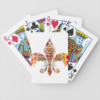 Fleur di lis Flowers Floral Jewel Pattern Bicycle Playing Cards