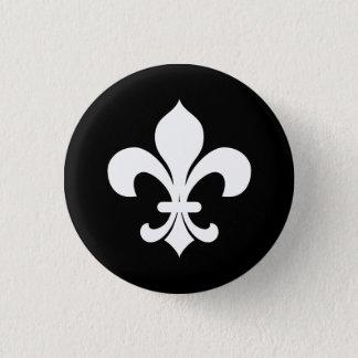 Fleur-di-Lis Heraldry Button