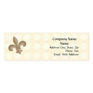 Fleur Di Lis Profile Card Double-Sided Mini Business Cards (Pack Of 20)