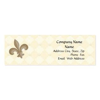 Fleur Di Lis Profile Card Pack Of Skinny Business Cards